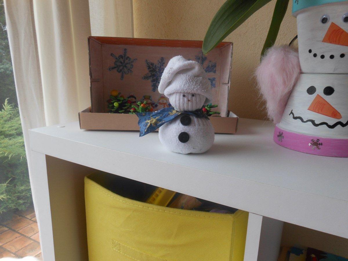 Petit bonhomme de neige - Bonhomme de neige avec une chaussette ...
